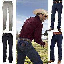 Jeans Wrangler da uomo pantaloni svasati bootcut gamba dritta zampa w29 w30 w40