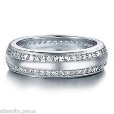 Elegant Eternity NSCD Simulated Round Cut Diamonds Ring Engagement Wedding