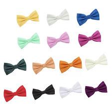 Men's Solid Check Pre-Tied Bow Tie Evening Special Occasion Wedding Groom