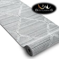 Modern Hall Runner 'SIERRA' Diamonds strips flat woven 60-120cm extra long RUGS