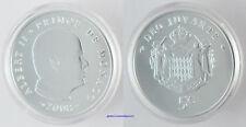 MONACO , 5 EURO ALBERT II , ARGENT 2008 , FLEUR DE COIN