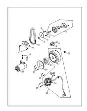 DEMARREUR quad triton 250 /300 / 400  baja  NEUVE  origine