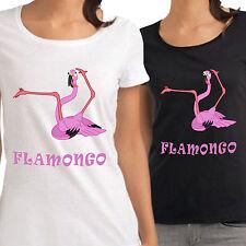 FLAMONGO  - Damen Mädchen T-Shirt - lustige Flamingo Parodie