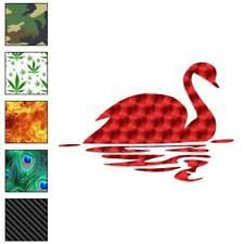 Swan Swimming Art Decal Sticker Choose Pattern + Size #3228