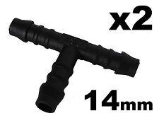 2x da 14 mm T-piece Splitter / Connettore per RONDELLA / Riscaldatore Tubo Flessibile, tubi e tubature