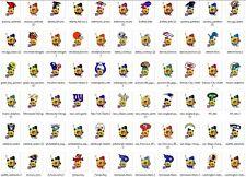 "12-1"" NFL SpongeBob SquarePants Mini Cup Cake Toppers Scrapbook Bottle Caps FBSB"