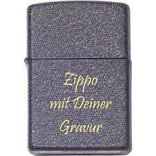 ORIGINAL Zippo - Benzin - Black Crackle - mit Ihrer persönlichen Gravur