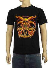 Pentagramme Crâne T-Shirt-Gothique Païen Magick Satan Satanique-S à 3XL