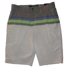 Men's Tony Hawk White & Gray Striped Lightweight Shorts SIzes 29, 32