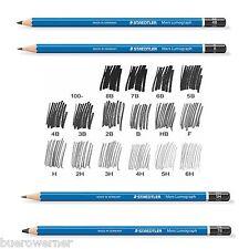 12 Staedtler Mars 100 Lumograph Bleistift  Härtegrad: weich und mittel