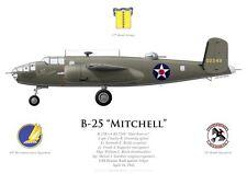 Print B-25 Mitchell, Greening, Raid Doolittle sur Tokyo (par G. Marie)