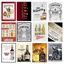 Alcohol Retro Metal Signs/Plaques Man Cave, Cool Novelty Gift, Bar/ Pub 6