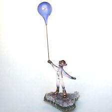 Circus Clown Figurine Blown Glass Amethyst Crystal