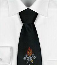 Bound Black Fire Brigade Tie, Rubber Band and Finishers node, Fire Brigade