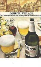 PUBLICITE 1976   OBERNAI VILLAGE   une bière d'Alsace pour la table