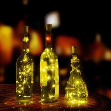 LED Simple Light String light bulb Wine Bottle Copper Wire Cork Festival Party