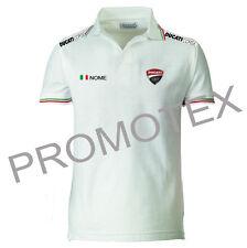 maglia maglietta uomo polo ducati corse racing cotone tricolore Italia factory