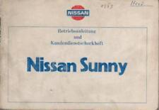 NISSAN   SUNNY   Betriebsanleitung  1983   B11 Handbuch  Bedienungsanleitung  BA