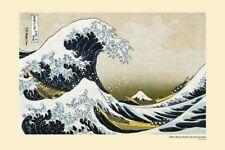 Hokusai-Poster Artistico Nuovo di zecca-GRANDE ONDA DI KANAGAWA 91.5 x 61 cm