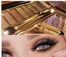 * Diamante & Paleta de Sombra de Ojos Maquillaje Cepillo Profesional 9 Color Brillante Set Reino Unido *