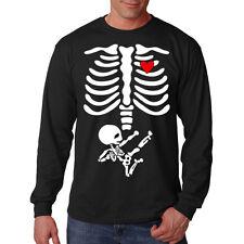 Pregnant Mother & Child Skull Skeleton Mom Baby Heart Funny Long Sleeve T-Shirt