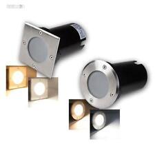 Reflector EMPOTRABLE LED Luz De Piso ACERO inox. , 3/5 / 7w Focos Para Suelo