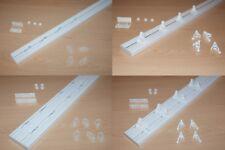 SINGLE & DOUBLE Curtain Ceiling Rail Track PVC Clips or Hooks