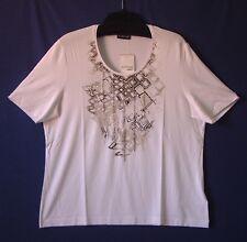 Samoon Shirt Gerry Weber weiß leichter Viskose Stretch Frontprint Neu Damen Gr.