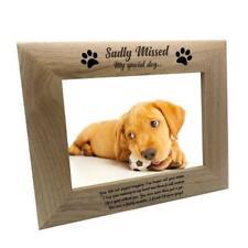 Sadly Missed Dog Remembrance Memorial Wooden Photo Frame