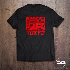 JDM Rising Sun Flag 86 Racers Tokyo T-Shirt Drôle Drift japonais voiture TEE Cadeau
