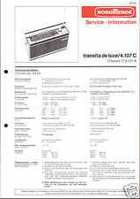 Nordmende Orig. Service Manual für Transita de Luxe 4.107C