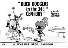 "Warner Bros.""DUCK DODGERS 24 1/2 CENTURY"" DAFFY DUCK PORKY Animation Giclee Gift"
