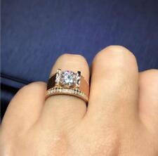 14K Yellow Gold Plated Diamond Engagement Band Wedding Pinky Ring