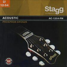3 juegos de cadenas de bronce fosforoso Stagg Guitarra Acústica-Light & Medio medidores