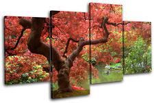 Cherry Blossom Tree Landscapes MULTI DOEK WALL ART foto afdrukken