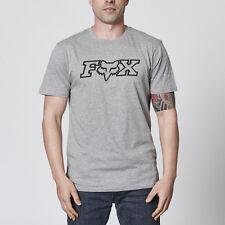 FOX MENS TEE LEGACY IN GREY REGULAR FIT MX MOTORCROSS SKATE BMX STYLED TEE