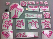 20 SOUTH DECALS STICKER HIBISCUS PALM TREE GIRL SURF BEACH SUN TURTLE CAR WALL