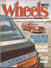 Wheels Jun 84 Pulsar Turbo Calais Skyline Swift Fiat Lancia Rover