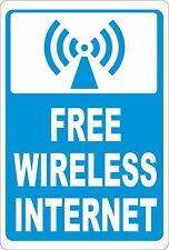 Free Wireless Internet Sign. Size Options. Customers wifi WI FI Service Hot Spot