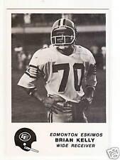 1981 Jogo CFL #25 Brian Kelly ESKIMOS U of WASHINGTON