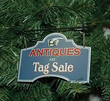 Vintage, Antique Christmas Ornament Sign