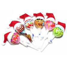 6-60 Pcs New Mini Santa Hat Lollipop Cover Wraps Tops Toppers Christmas Decor sT