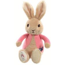 PETER RABBIT & FLOPSY BUNNY Soft Bean Rattle - Beatrix Potter - New Baby Gift
