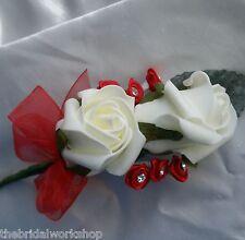 Flores De Boda Doble Ojal Novio Mejor Hombre Usher invitado-Todos Los Colores