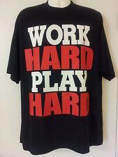 Work Hard Play Hard Black T-Shirt