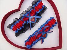 New Handmade Superman Wedding Garter Blue Red Black Yellow Superhero Garter Prom