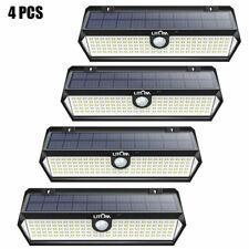 4Pcs Litom 122 Led Solar Lights Wall Motion Sensor Garden Fence Security Lamp