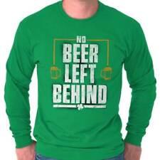 Drinking Irish Beer St Patrick Day Gift Patty Shirt Cool Edgy Long Sleeve TShirt