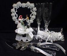$99 SPECIAL Disney Little MERMAID Wedding LOT Cake Topper Glasses, knife, server