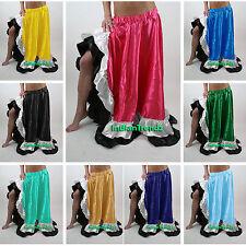 Satine Flamenco Fente Jupe Belly Dance Gitan Danse du ventre Danse Orientale